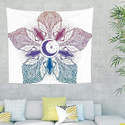 Gamoii - Manta mágica con alas de Luna, para Picnic, Playa ...