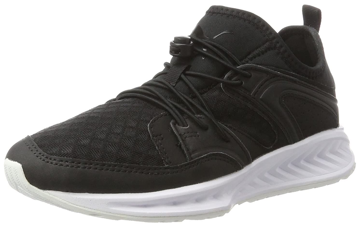Puma Unisex-Erwachsene Blaze Ignite Plus Breathe Low-Top  38.5 EU|Schwarz (Puma Black-puma Black-puma White 01)