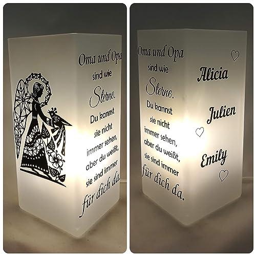 Individualisierbare Familienlampeengel Verschiedene