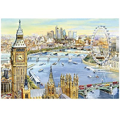 TiKingAn 1000 Piece Jigsaw Puzzle for Adults - 1000 pc Landscape Jigsaw Puzzle Game Interesting Toys - Hand Made Puzzles Personalized Gift (38x26 cm): Toys & Games