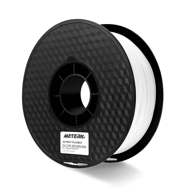 PLA Filament, Meterk 1kg PLA/ABS 1.75 mm Filament fü r 3D Drucker (Schwarz)