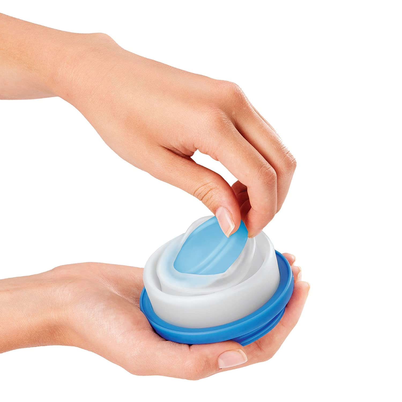 lavabile in lavastoviglie Pads con 2/diverse dimensioni Tazza di muesli 2/Go con coperchio con cucchiaio tazza di yogurt 2/pezzi senza BPA