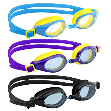 c16a918fd5 Image Unavailable. Image not available for. Color  HeySplash Kids Swim  Goggles ...