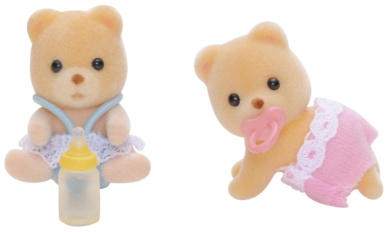 SYLVANIAN FAMILIES- Bear Twins Mini Muñecas Y Accesorios, (Epoch para Imaginar 5086)