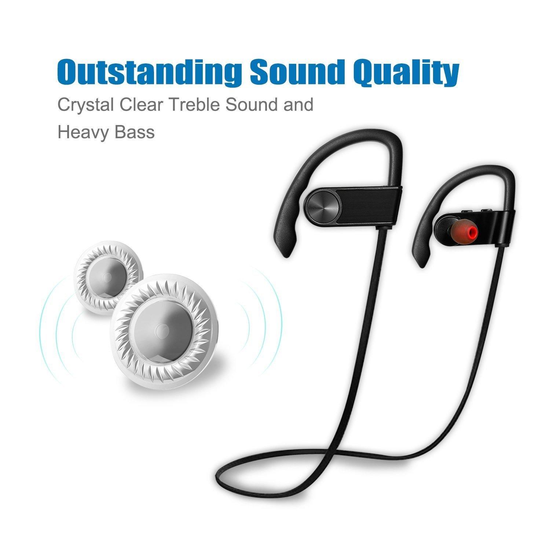 0d69e3cf6b2 Amazon.com: Wireless Bluetooth Earbuds Zakix Bluetooth Headphones for iPhone  8/8 plus, 7/7plus/6/6plus/5/5s and smart phones (Black): Cell Phones & ...