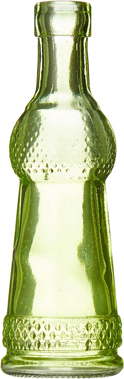 Darice Glass Bottle with Cork: Green, 5 Inches, Style may vary (Pack of 1)