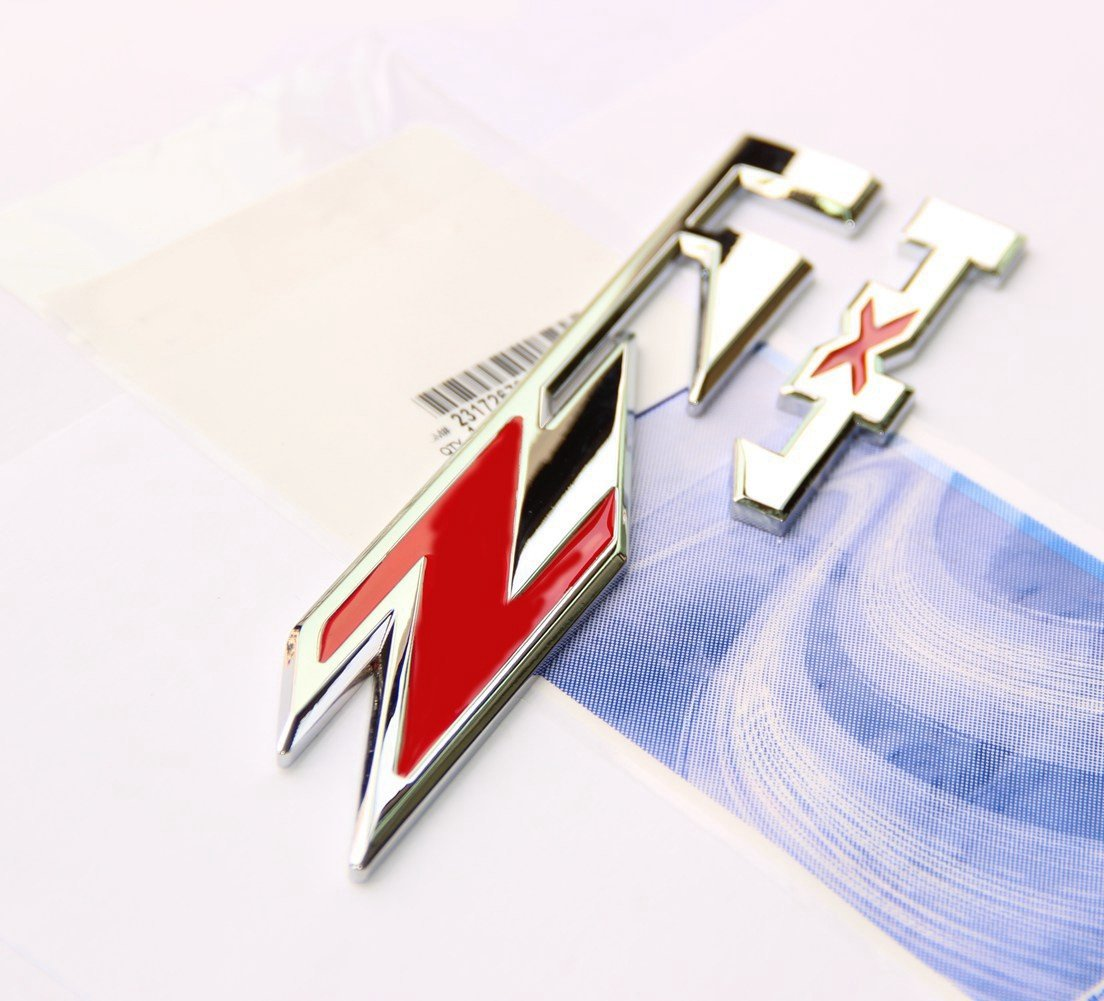 Yoaoo 3x OEM Red Z71 4x4 Emblems Badge for Gmc Chevy Silverado Sierra Tahoe Suburban 1500 2500Hd 3500Hd Decal Chrome
