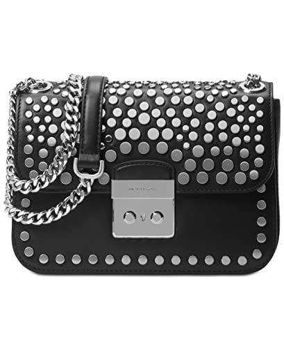 ce606f7788bf MICHAEL Michael Kors Womens Jenkins Leather Shoulder Handbag Black Medium   Handbags  Amazon.com