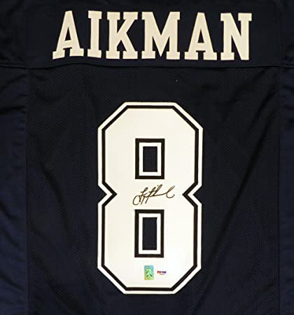 competitive price 81636 69595 DALLAS COWBOYS TROY AIKMAN AUTOGRAPHED BLUE JERSEY PSA/DNA ...