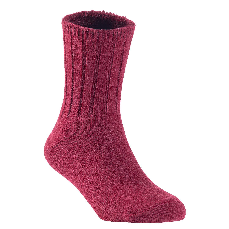 Wine Lovely Annie Children 6 Pairs Wool Tube Socks Solid 0Y-2Y