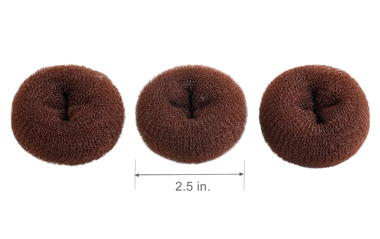 ClothoBeauty 3 pieces Extra small Size Kids/Children Hair Bun Donut Maker, Ring Style Bun, Chignon Donut Buns Doughnut Shaper Hair Bun maker (2.5 in.) (Blonde) ltd