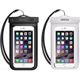 Universal Waterproof Case, CHOE 2Pack Clear Transparent Cellphone Waterproof, Dustproof Dry Bag with Neck Strap for iPhone X/8/8 Plus/7/7 Plus/6s/6s Plus, Samsung Galaxy S9//S8/S7/S6 and All Devices Up to 6 Inches