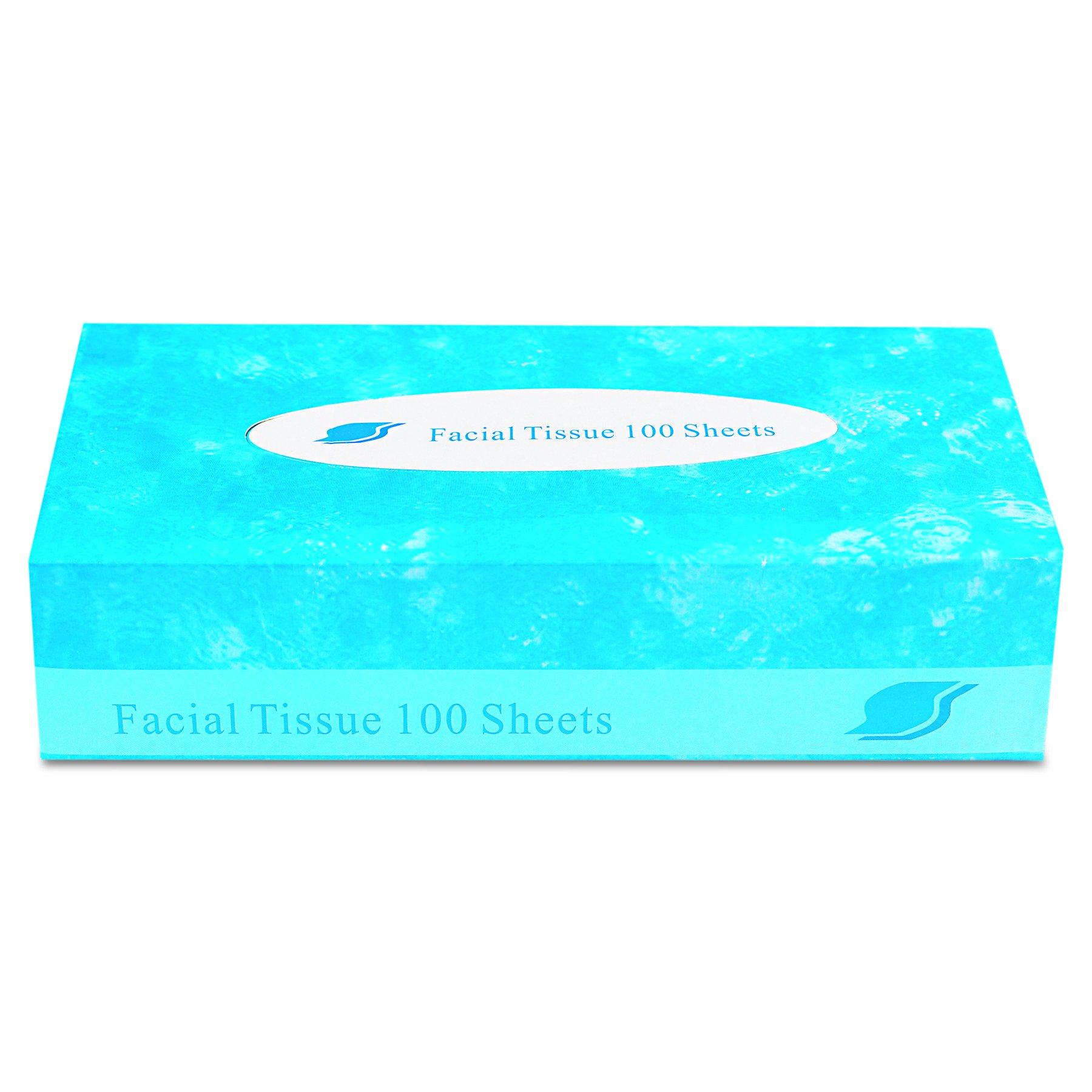 GEN FACIAL30100 Boxed Facial Tissue, 2-Ply, White, 100 Sheets per Box (Case of 30)