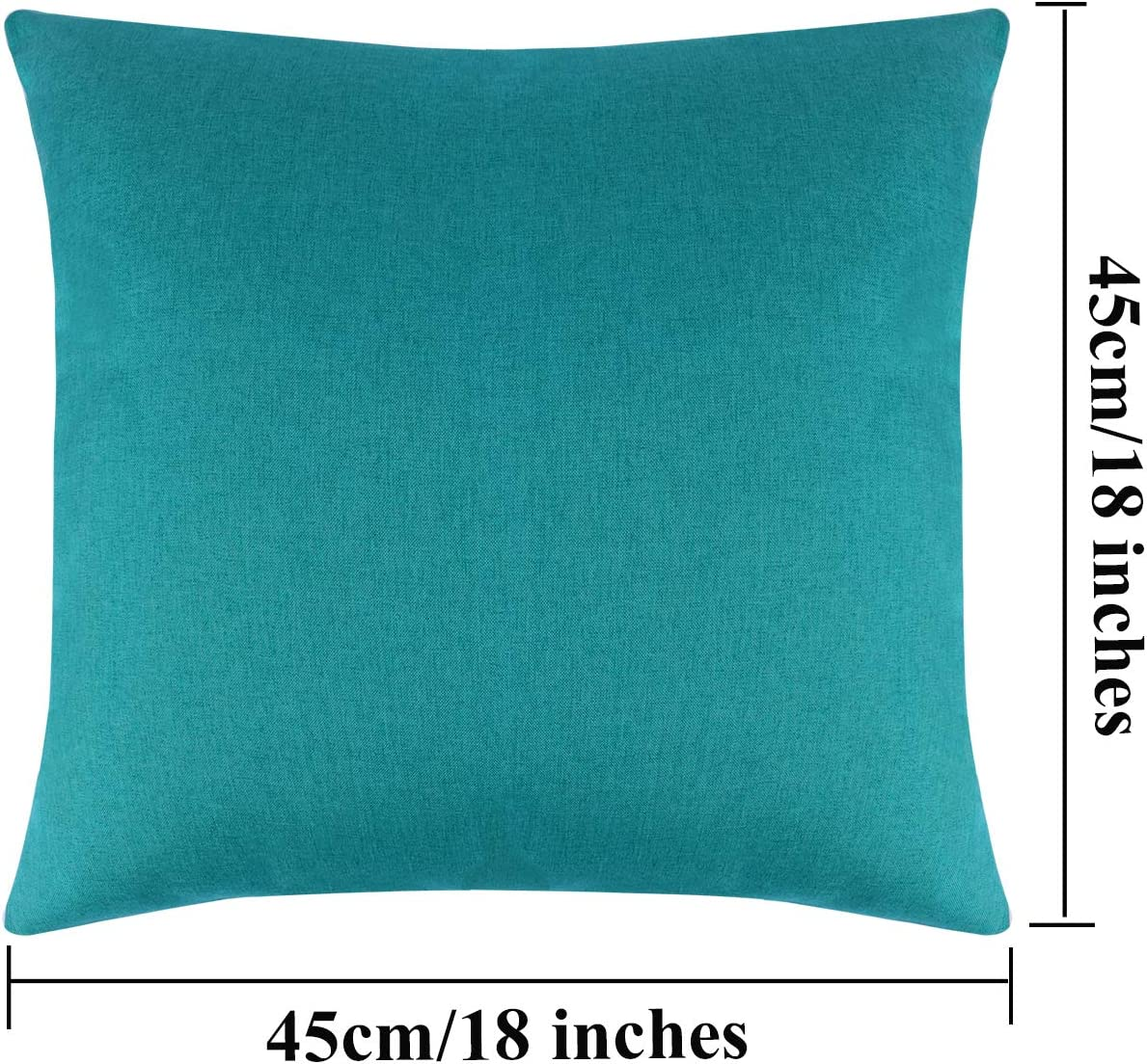 Balcony and Sofa Aneco Pack of 6 Decorative Outdoor Waterproof Throw Pillow Covers Square Patio Cushion Cases Garden Pillowcases for Patio Red Tent Couch 18 x 18 Inches