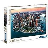 Clementoni 31810 Adult Puzzle Sky View Of New York, Multi-Colour, 1500 Pieces