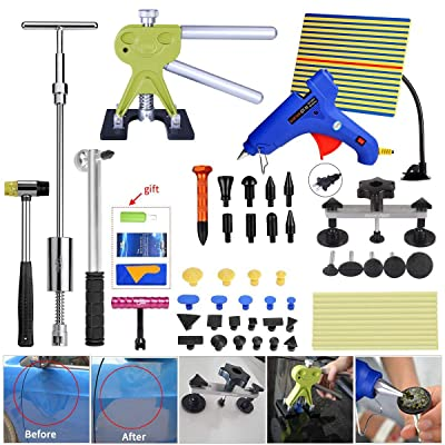 Fly5D Paintless Car Dent Removal Kit Puller Pull up 56pcs Set: Automotive