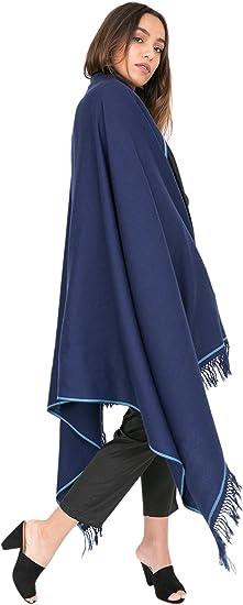 Beautiful merino wool shawl stole scarf  blau  wool merinos felt