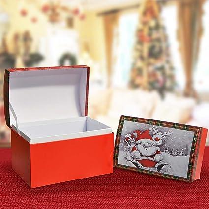 Bakaji 2 Scatole Cofanetto Varie Misure Babbo Natale Rosso Per ...