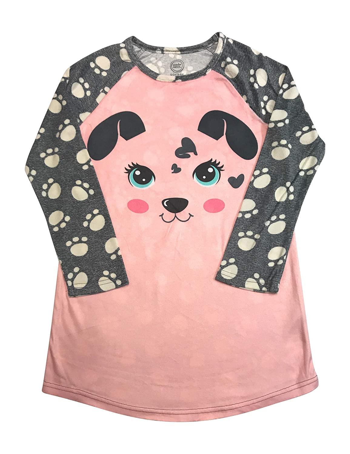 Long Sleeved Fleece Girls Nightgown Pajamas with Panda, Unicorn, and More Styles