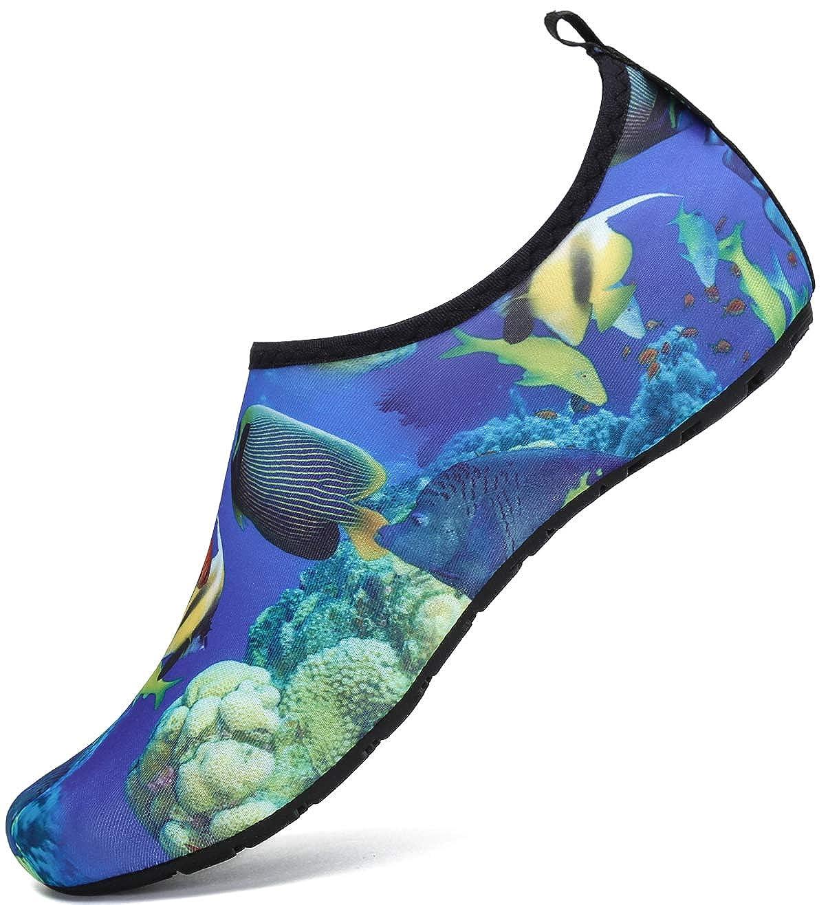 SAGUARO Chaussures de Sport Aquatique Chaussons de Bain Pieds Nus pour Femme...