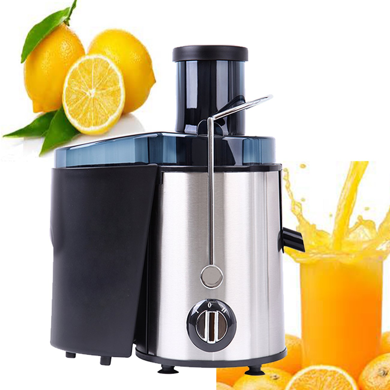 Ridgeyard 400W Electric Juicer Juice Extractor High Speed for Fruit and Vegetables Dual Speed Setting Centrifugal Fruit Machine with Juice Jug, Premium Food Grade Stainless Steel by Ridgeyard