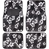 A Set of 4 Universal Fit Hawaii Hibiscus Carpet Floor Mats for Cars / Truck -...