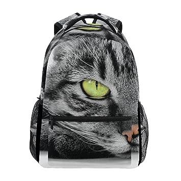 COOSUN Gato de Ojos Verdes Mochila Casual Escuela Mochila Bolsa de Viaje: Amazon.es: Equipaje