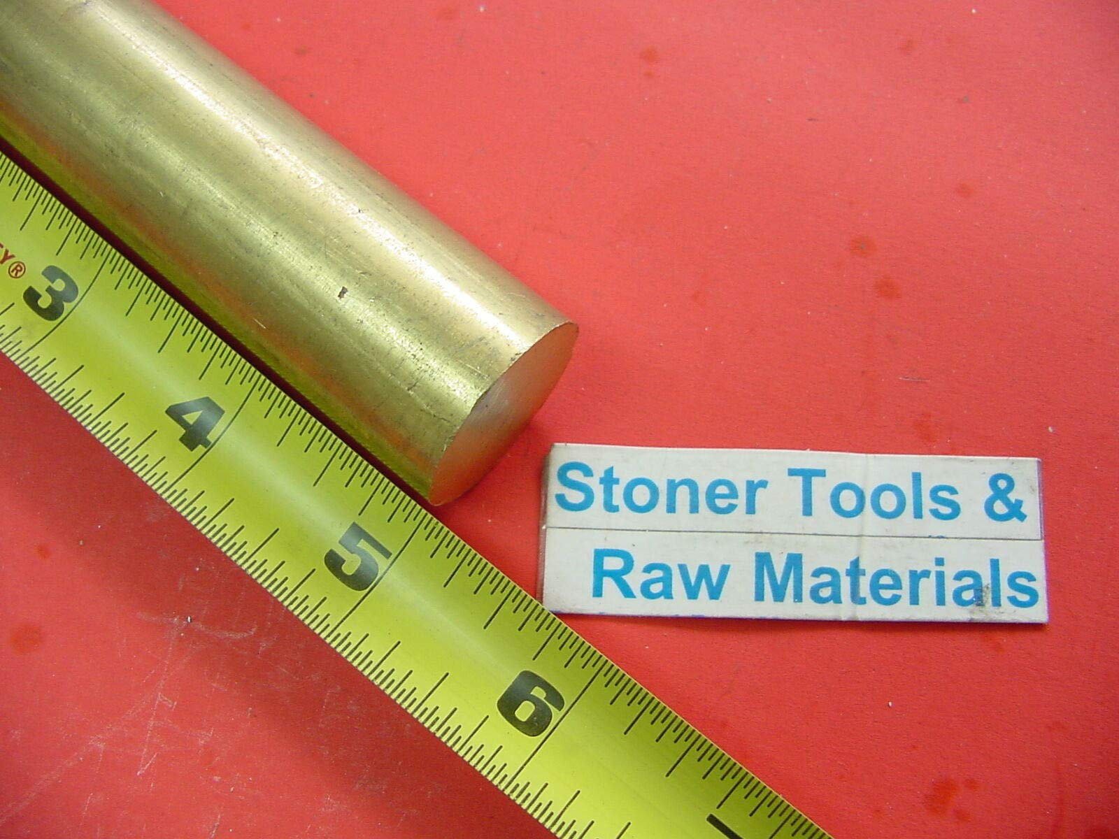 1'' Brass C360 Round Rod 5'' Long H02 Solid Brass Bar New Lathe Bar Stock 1.00'' OD by Okumahome