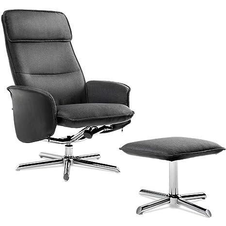 Moderno sillón de Relax con Taburete, 135°, inclinable ...
