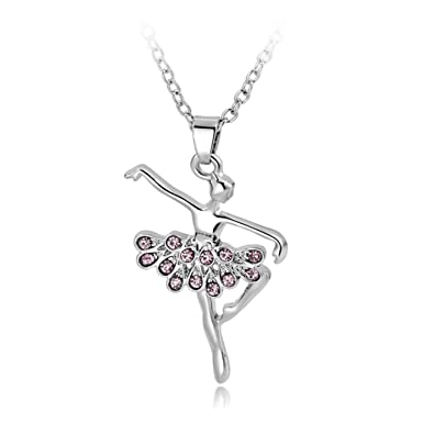 Long way silver plated pink dancing ballerina dancer ballet dance long way silver plated pink dancing ballerina dancer ballet dance pendant necklace charm mozeypictures Image collections