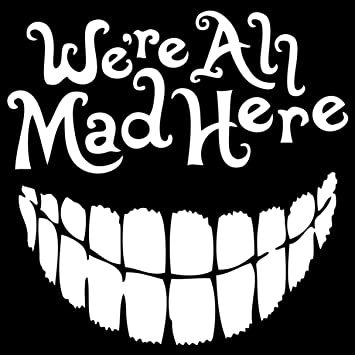 External Fitting Wonderland All Mad Here Vinyl Car Decal Art Stickers /& Decals