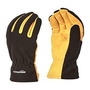 AmazonBasics Cold Proof Thermal Winter Work Gloves, Yellow, L