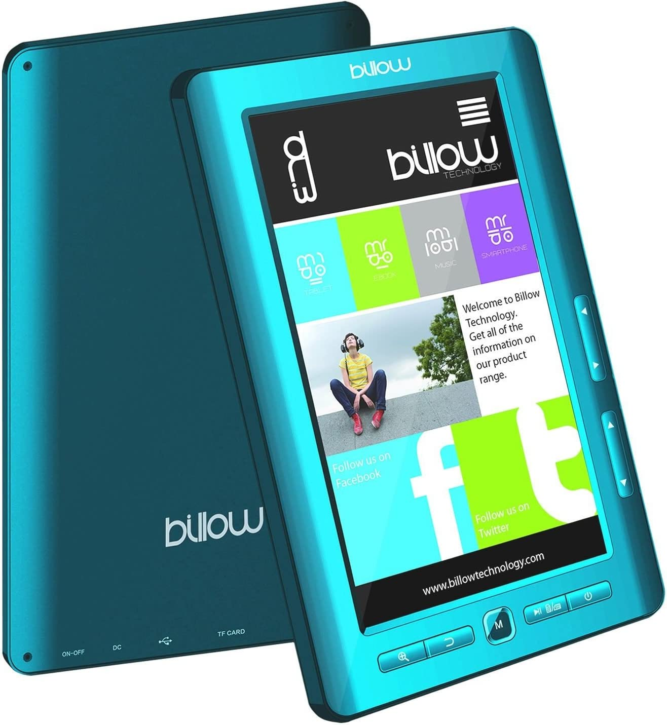 BILLOW Libro ELECTRONICO Multimedia Pantalla DE 7 TFT Color Azul ...