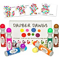 Cameron Frank Products 8-Pack Washable Dot Markers / Bingo Daubers Dabbers Dauber Dawgs Kids / Toddlers / Preschool / Children Art Supply 3 Pdf Coloring eBooks