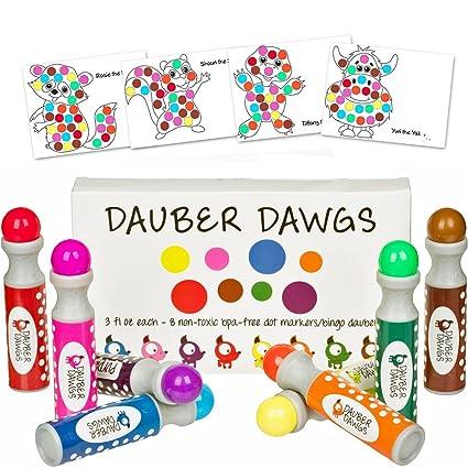 amazon com 8 pack washable dot markers bingo daubers dabbers