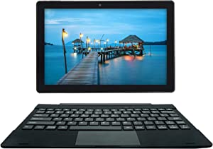 [3 Bonus Items] Simbans TangoTab 10 Inch Tablet and Keyboard 2-in-1 Laptop, 3 GB RAM, 64 GB Disk, Android 9 Pie, Mini-HDMI, Micro-USB, USB-A, Inbuilt GPS, Dual WiFi, Bluetooth Computer PC - TL93