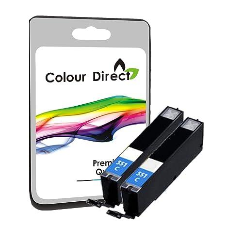 Amazon.com: 2 X CLI-551XL High Capacity Cyan Compatible Ink ...