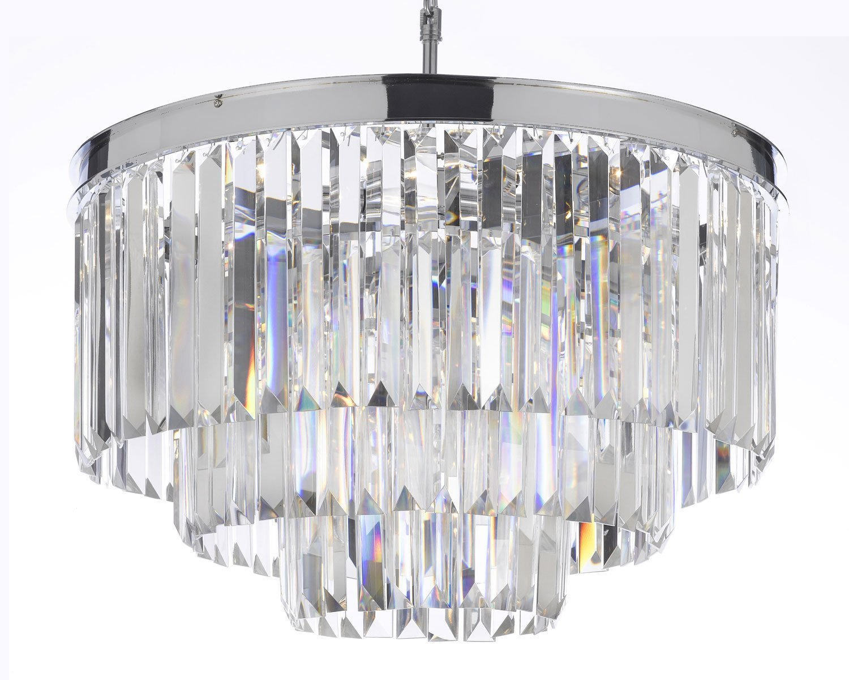 Odeon empress crystal tm glass fringe 3 tier chandelier odeon empress crystal tm glass fringe 3 tier chandelier chandeliers lighting chrome finish amazon aloadofball Gallery