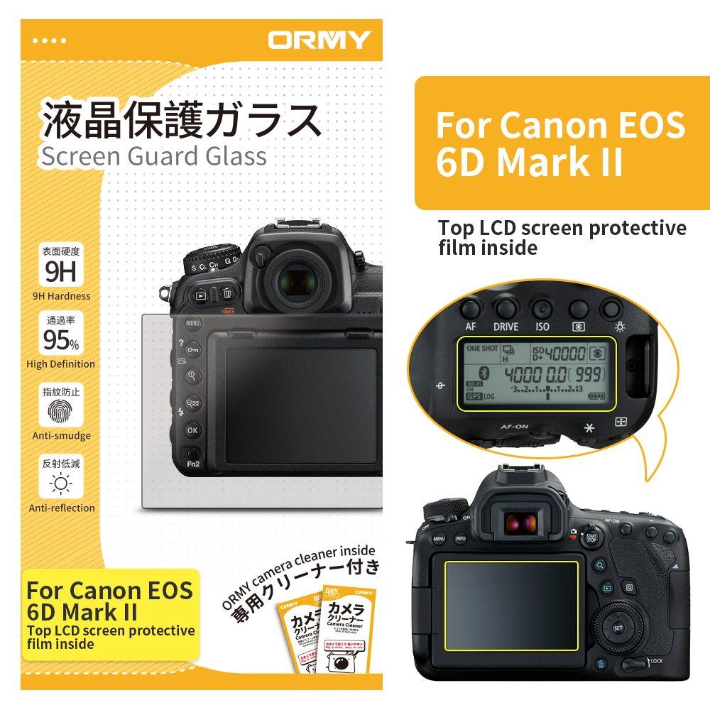 ORMY 0.3mm cámara Protector de pantalla para Canon EOS 6D Mark II ...