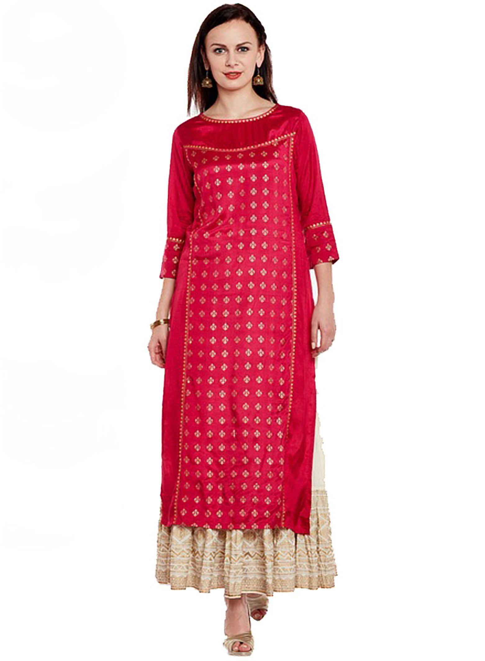 Manas Crafts Indian Women Designer Kurta Kurti Bollywood Tunic Ethnic Pakistani Top Crepe Kurtis Dress Tunics Cotton Tops Blouse Style Long Silk