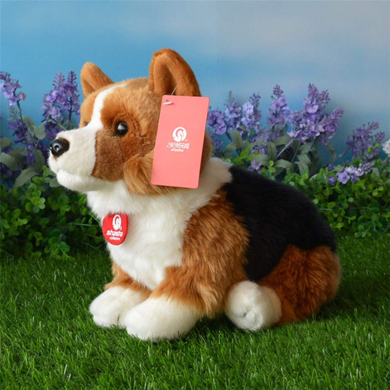 JEWH ウェルシュコーギーペンブローク ぬいぐるみ - イミテーションコーギス - ぬいぐるみ 子犬 ぬいぐるみ 子供へのギフト (25cm) (座った3色)   B07HK8CYGH
