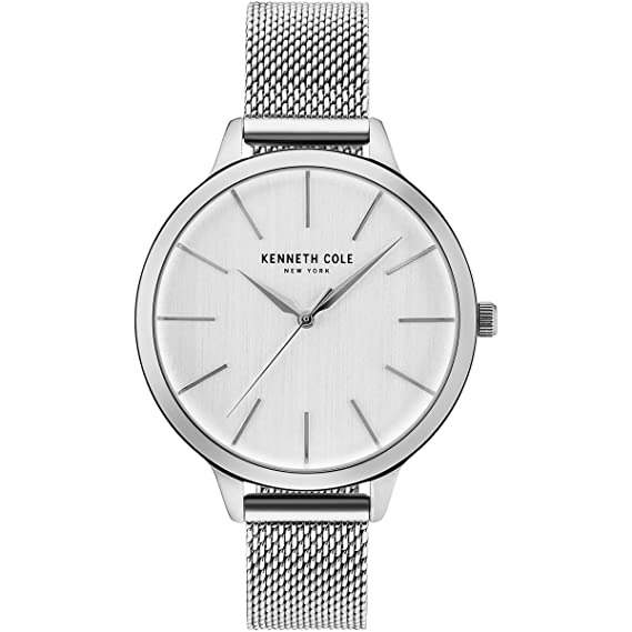 Kenneth Cole Reloj Analógico para Mujer de Cuarzo con Correa en Acero Inoxidable KC15056009: Amazon.es: Relojes