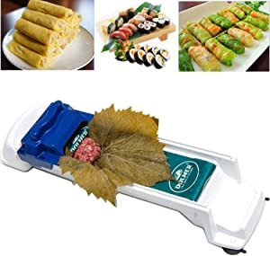 Dolmer Roller Machine, PeSandy Sushi Roller Vegetable Meat Rolling Tool for Beginners and Children Stuffed Grape & Cabbage Leaves, Rolling Meat and Vegetable - Kitchen Diy Dolma Roller Sushi Maker