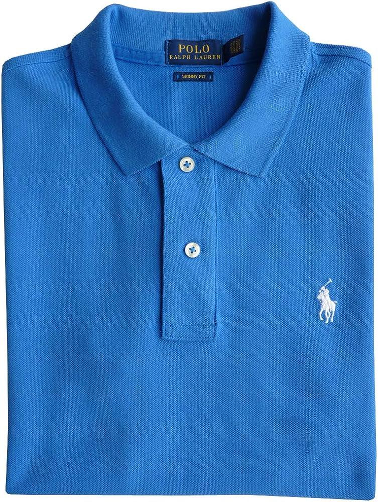 Polo Ralph Lauren Camisa de Polo TL, Polo Flequillo, Azul, Ajustado