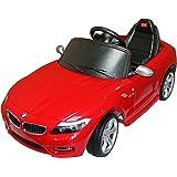 HOMCOM Mini Coche Eléctrico Bateria 6V para Niños 3 años BMW con MP3 CLaxon Faros Llaves y Control Remoto para Padres