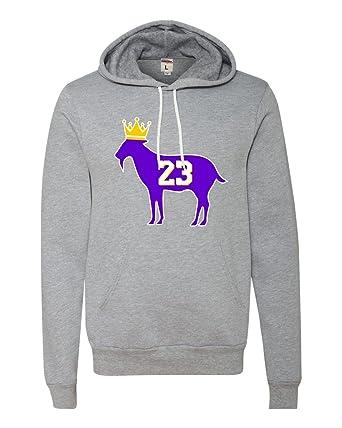 57c4c69af741 Amazon.com  Adult Goat James G.O.A.T. King Deluxe Super Soft Sweatshirt  Hoodie  Clothing