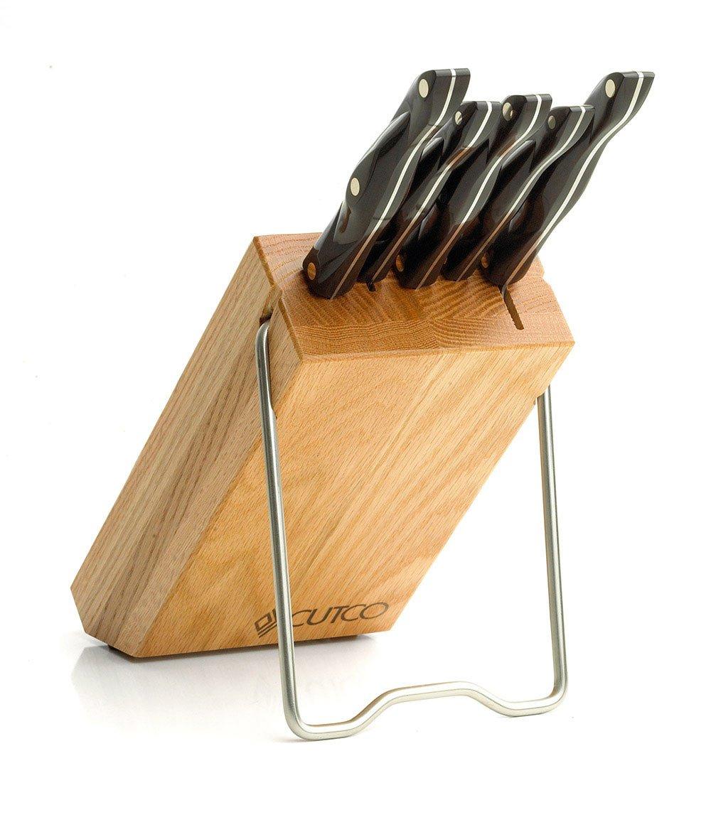 CUTCO Platzspar-Set in Eichenholzblock (schwarz): Amazon.de: Küche ...