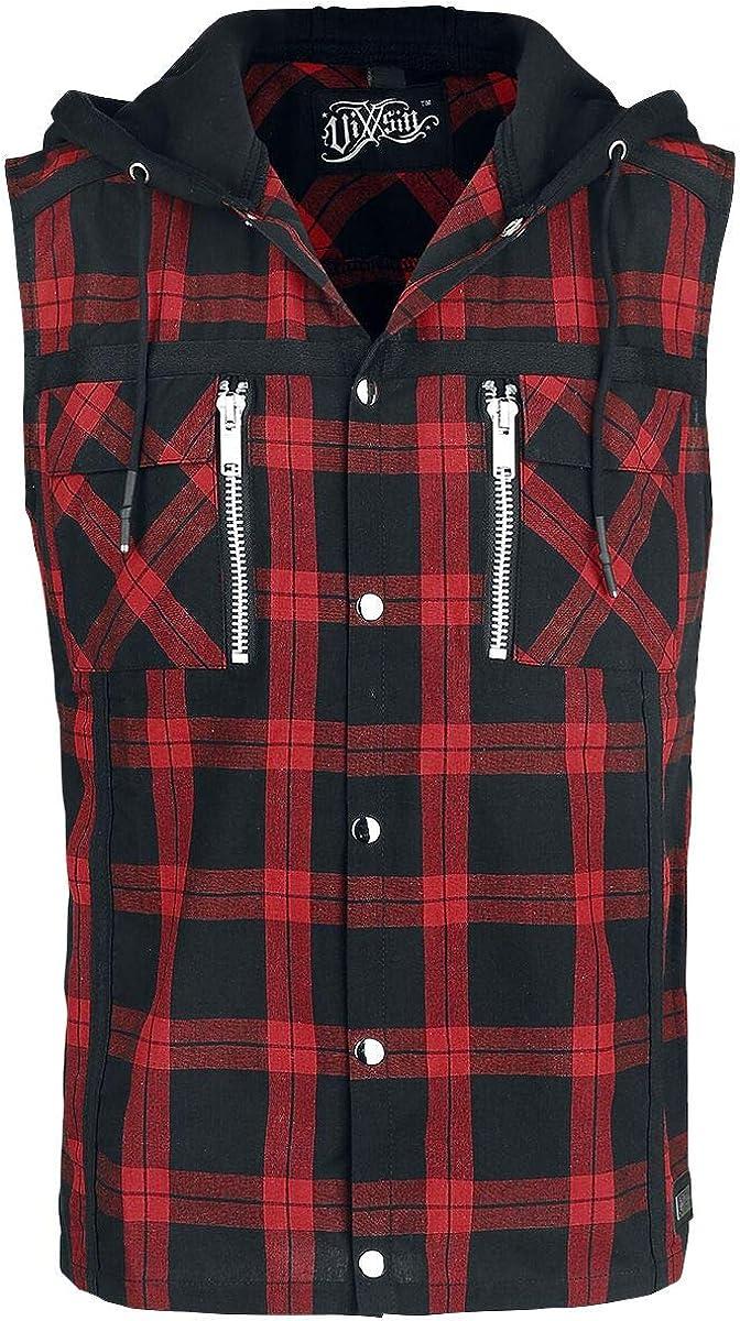 Vixxsin Eetu Shirt Hombre Camisa Manga Corta Negro/Rojo, Regular: Amazon.es: Ropa y accesorios
