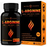 Premium L Arginine 1500mg Nitric Oxide Supplement - Extra Strength for Energy, Muscle Growth, Heart Health, Vascularity & Sta