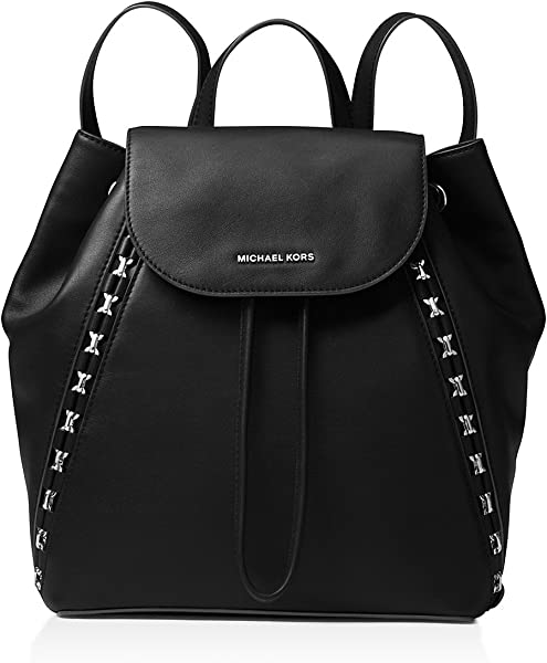 9a2a40e81498 Amazon.com: MICHAEL Michael Kors Sadie Medium Leather Backpack Black ...